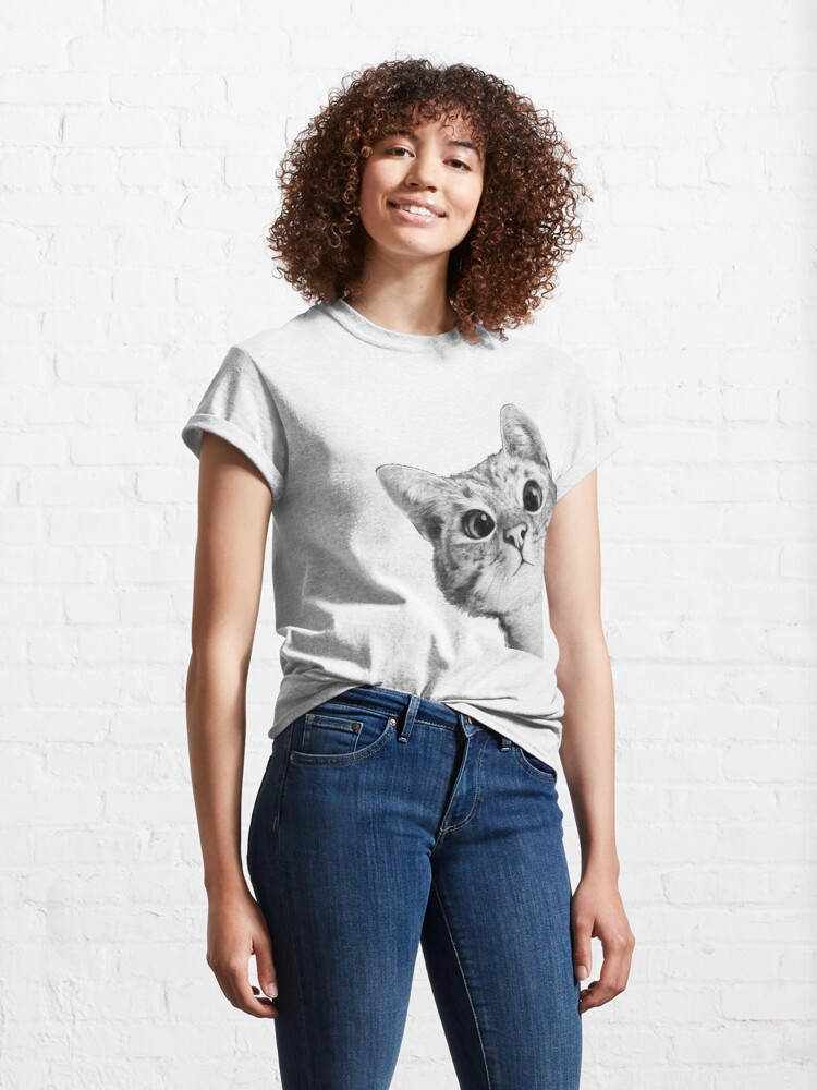 Alternate view of sneaky cat Classic T-Shirt