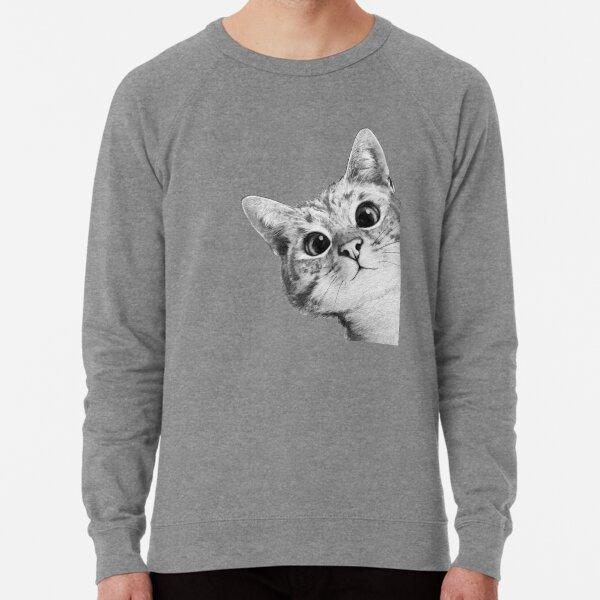 sneaky cat Lightweight Sweatshirt