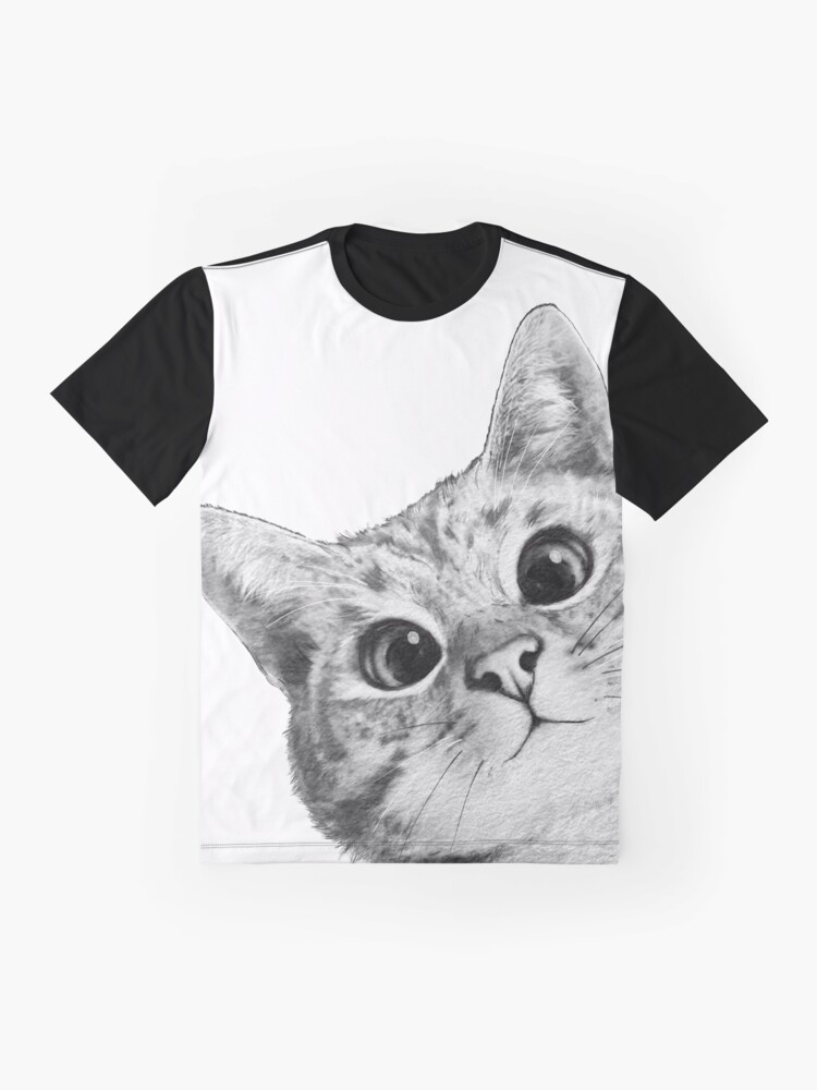 Alternate view of sneaky cat Graphic T-Shirt