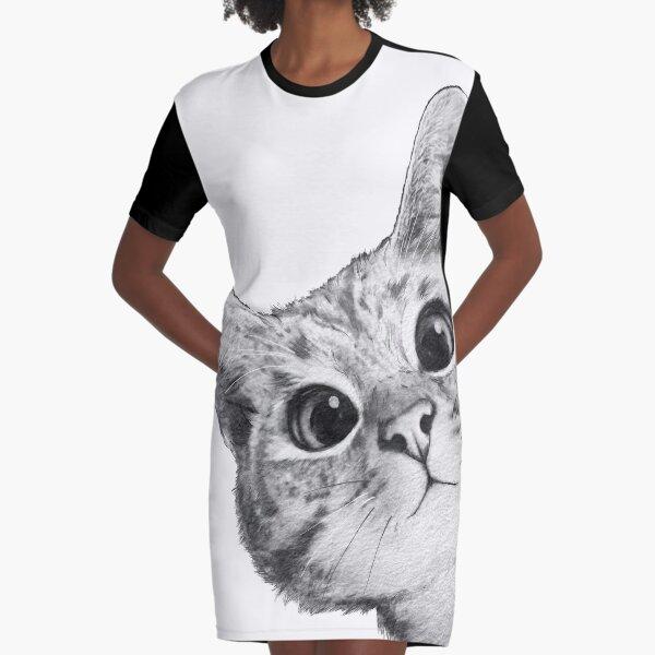 hinterhältige Katze T-Shirt Kleid