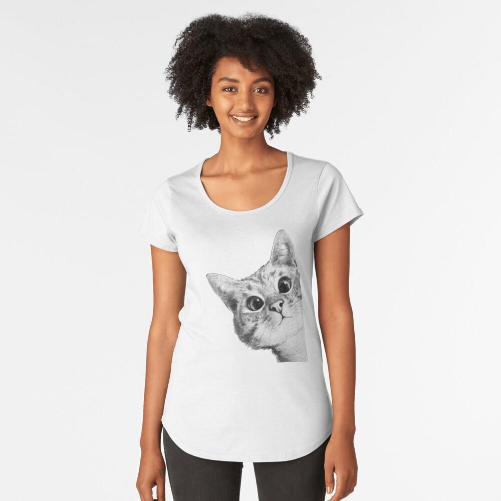 sneaky cat Premium Scoop T-Shirt