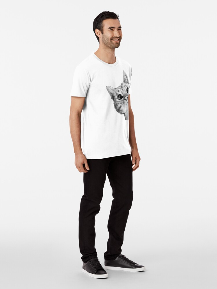 Alternate view of sneaky cat Premium T-Shirt