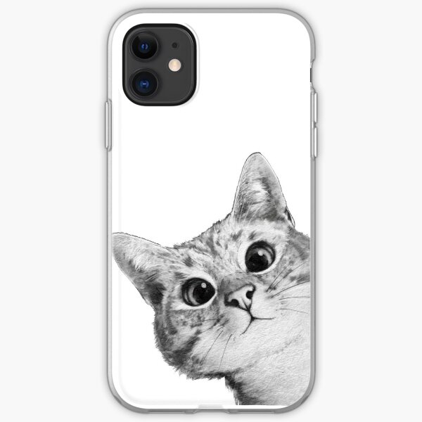 sneaky cat iPhone Soft Case