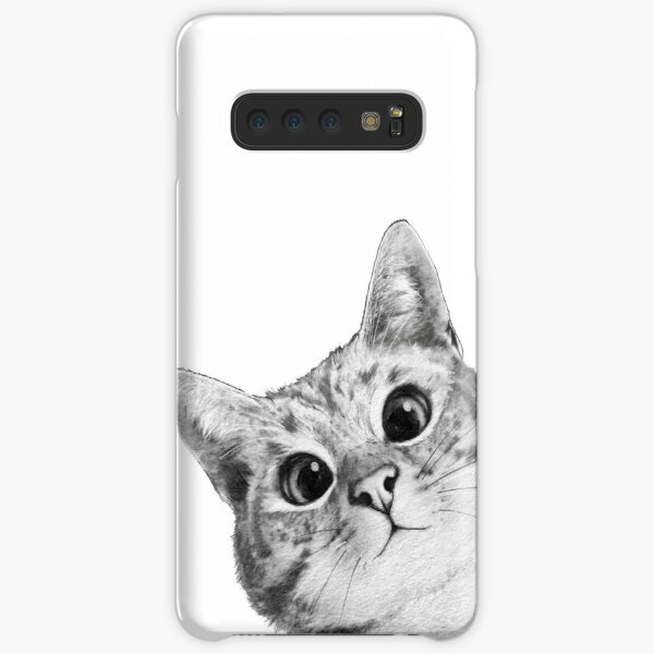 sneaky cat Samsung Galaxy Snap Case
