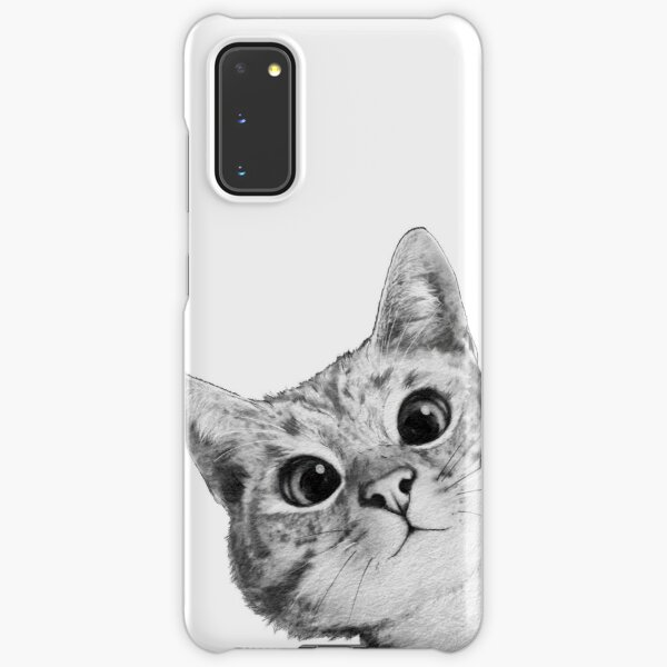 sneaky cat Samsung Galaxy Snap Case
