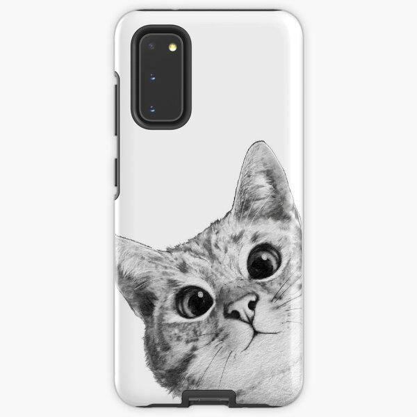 sneaky cat Samsung Galaxy Tough Case