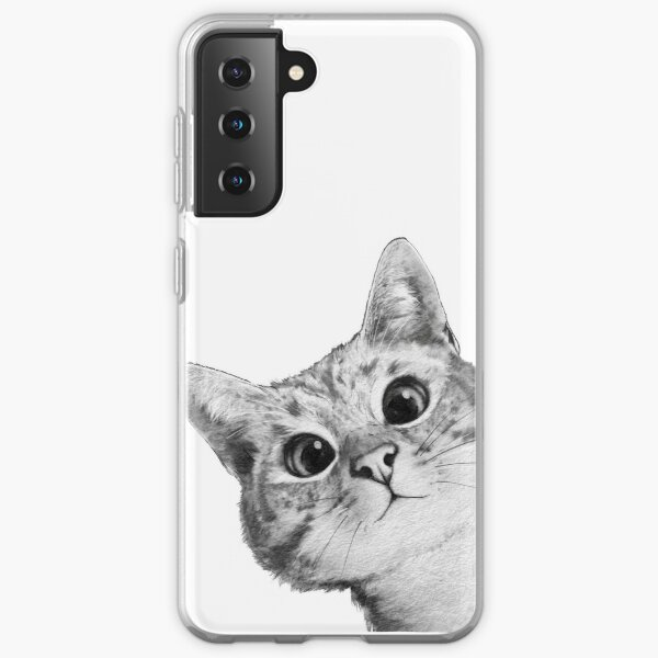sneaky cat Samsung Galaxy Soft Case