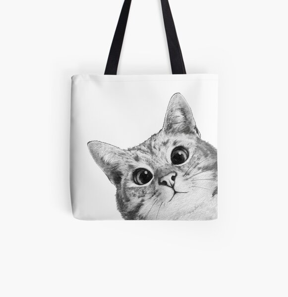 sneaky cat All Over Print Tote Bag