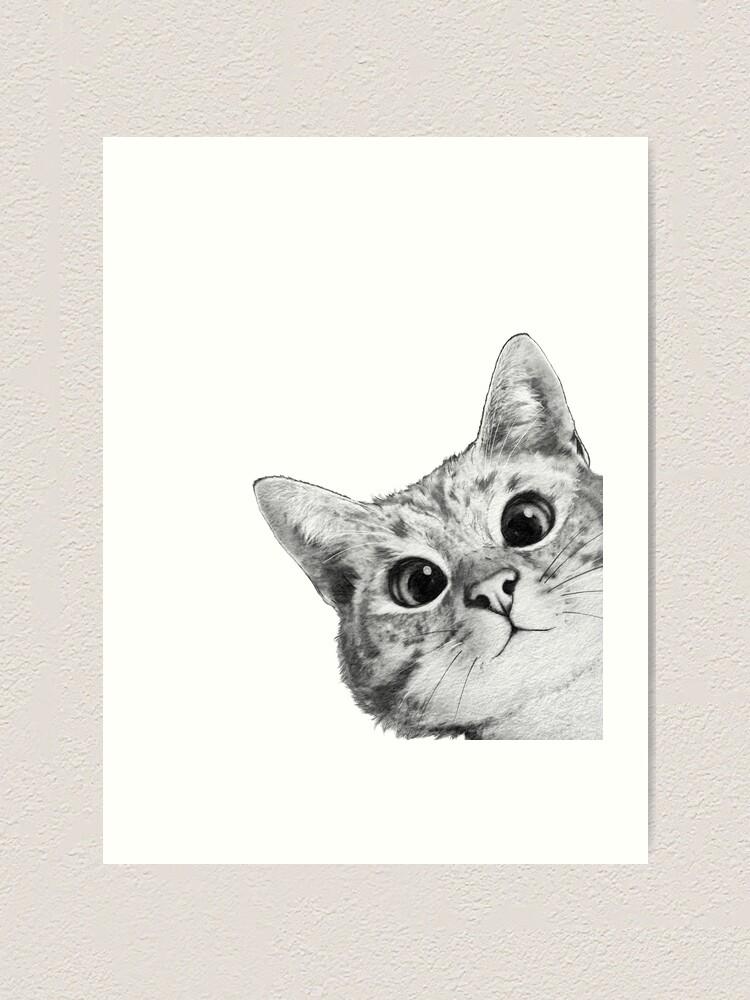 Alternate view of sneaky cat Art Print
