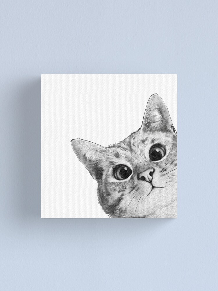Alternate view of sneaky cat Canvas Print