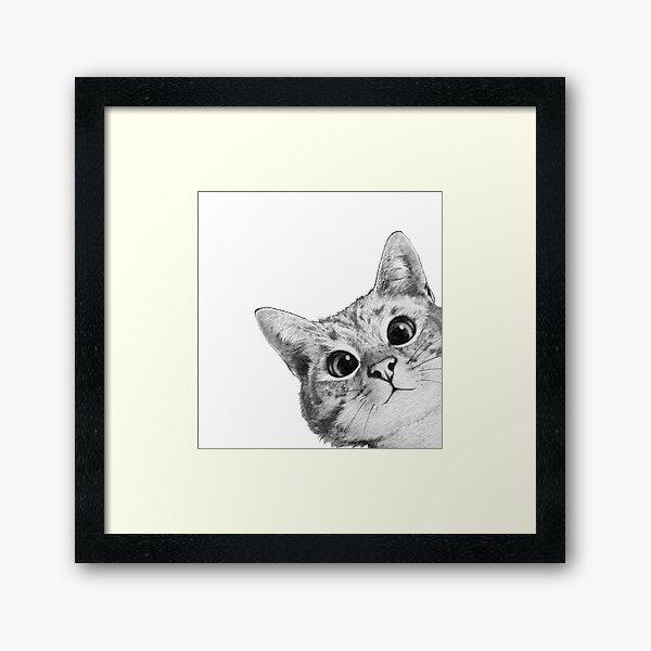 chat sournois Impression encadrée