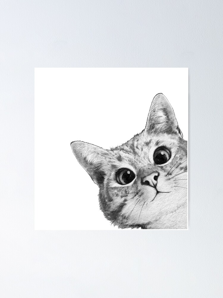 Alternate view of sneaky cat Poster