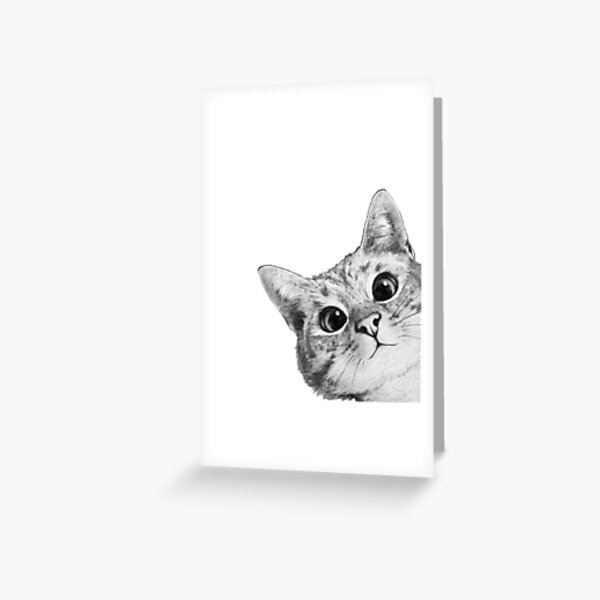 sneaky cat Greeting Card