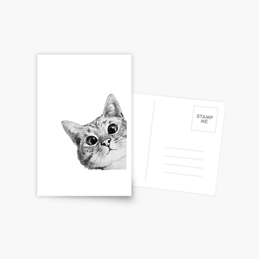 sneaky cat Postcard
