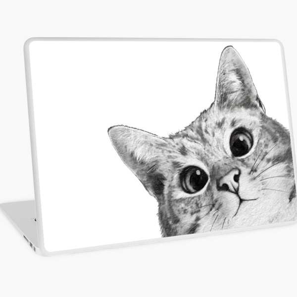 sneaky cat Laptop Skin