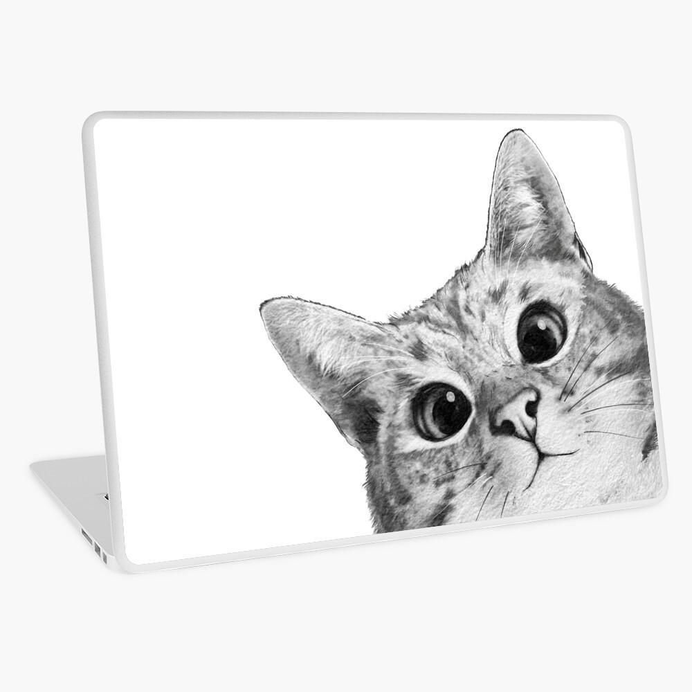 sneaky cat Laptop Skin