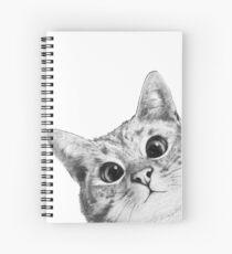Cuaderno de espiral gato furtivo