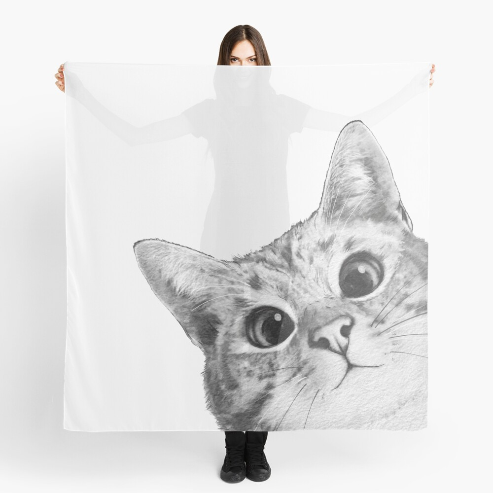 sneaky cat Scarf