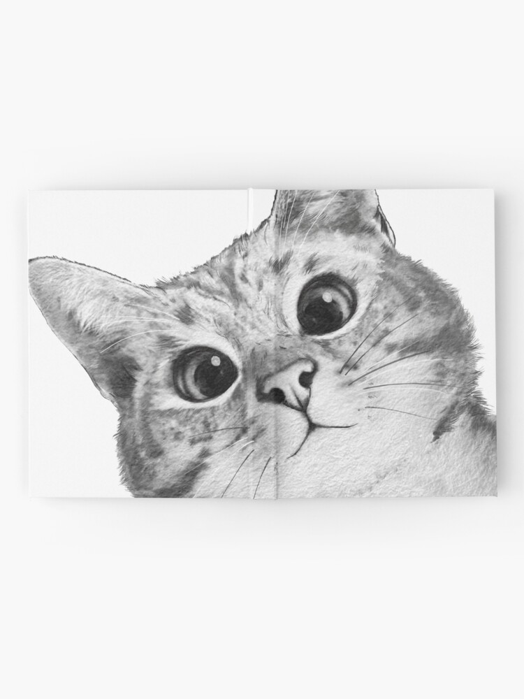 Alternate view of sneaky cat Hardcover Journal