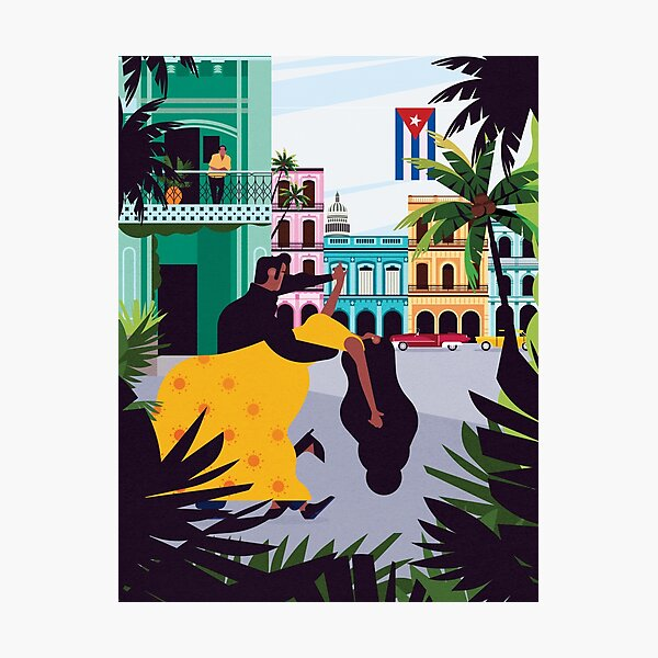 Havana ft. Salsa Dancers Photographic Print