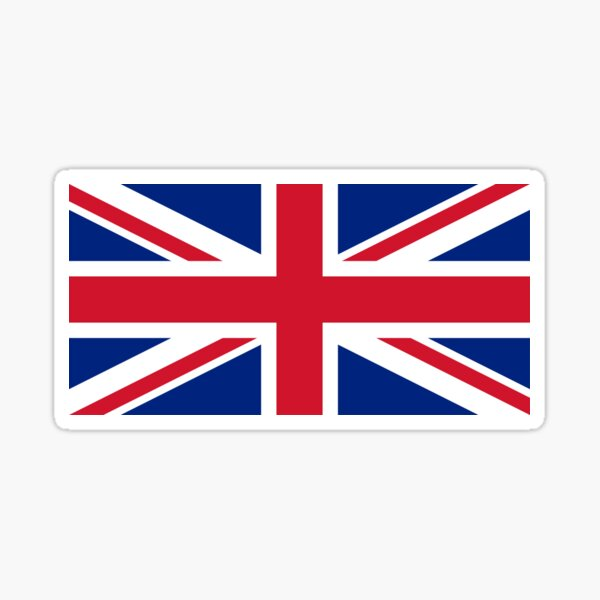 United Kingdom Flag - Union Jack T-Shirt Sticker