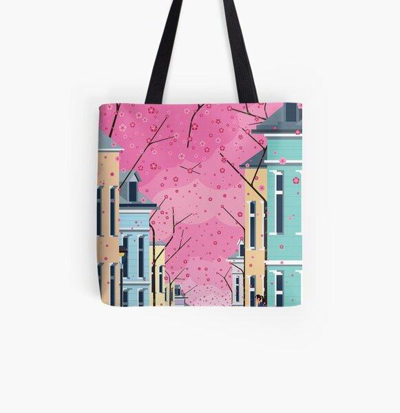 Altstadt Bonn, ft Cherry Blossom All Over Print Tote Bag