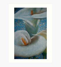 Arum Lilies Art Print