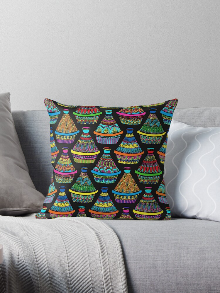 """Pattern #82 - Moroccan tagines at the souk"""" by Irene Silvino"""