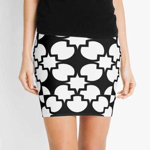 Black geometric shapes pattern  Mini Skirt