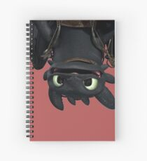 Upside Down Toothless Spiral Notebook