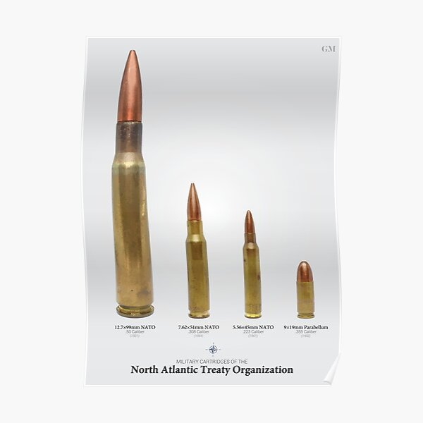 NATO Military Cartridges Poster