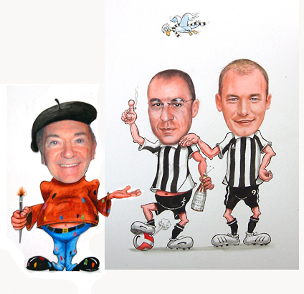 CARICATURE - FOOTBALL FANS by Brian Towers