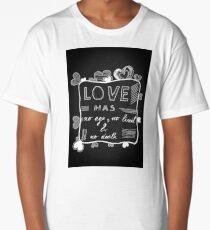 Boundless Love Quote Black Paper Artwork Long T-Shirt