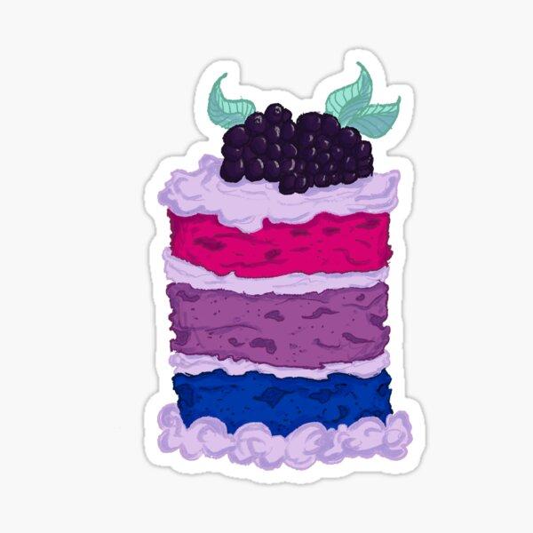 Bisexual Velvet Cake Sticker