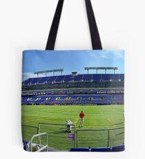Ravens Practice Panorama Tote Bag