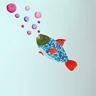Little Fish with Fantasy Bubbles by lisavonbiela