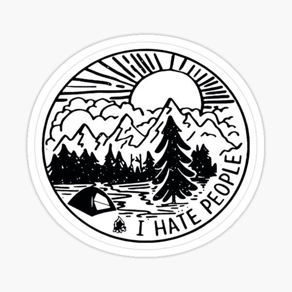 Ich hasse Menschen Sticker