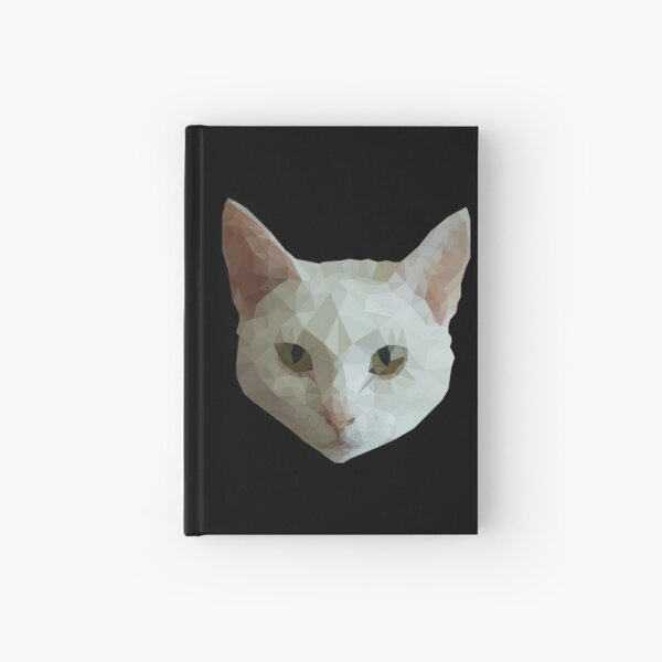 Low Poly Cat Hardcover Journal