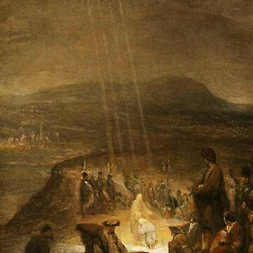 UFOs, in Ancient Art, Baptism of Christ, 1710, Painting by, Aert de Gelder by TOMSREDBUBBLE