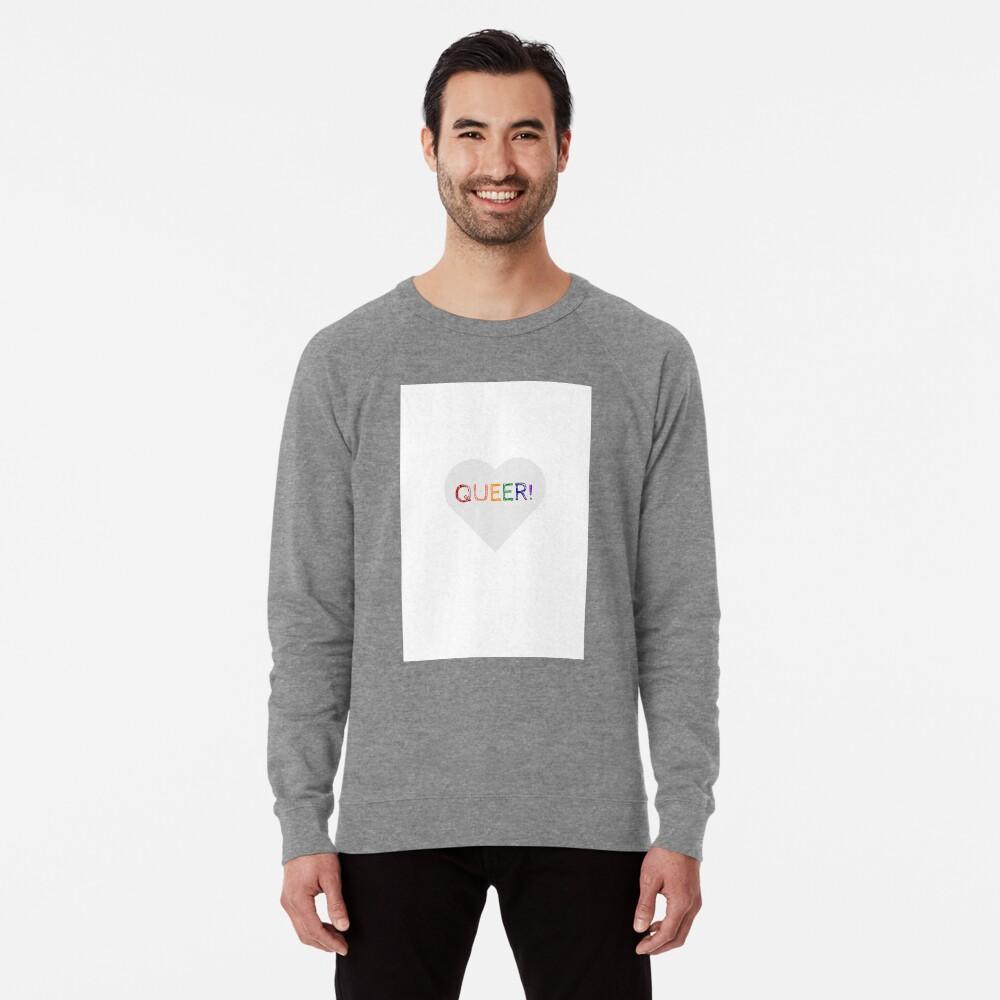 QUEER RAINBOW HEART Lightweight Sweatshirt