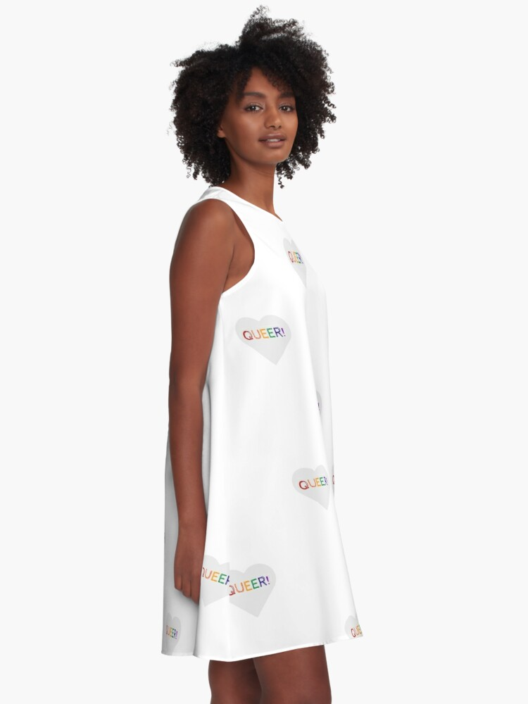 Alternate view of QUEER RAINBOW HEART A-Line Dress