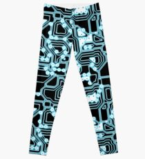 Electron - glowing circuits Leggings
