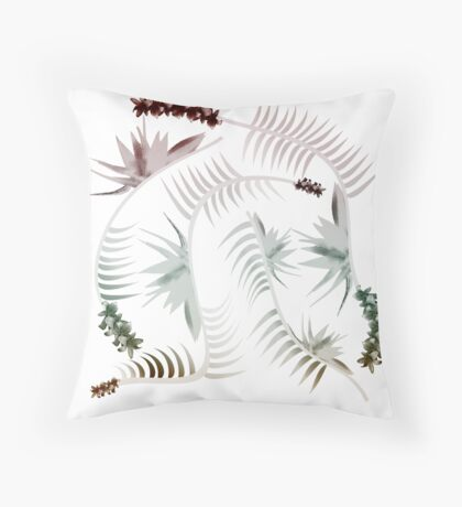 Pure Neutral Flow Throw Pillow