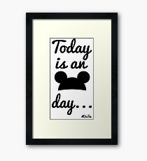 Today is an Ears day... Framed Print