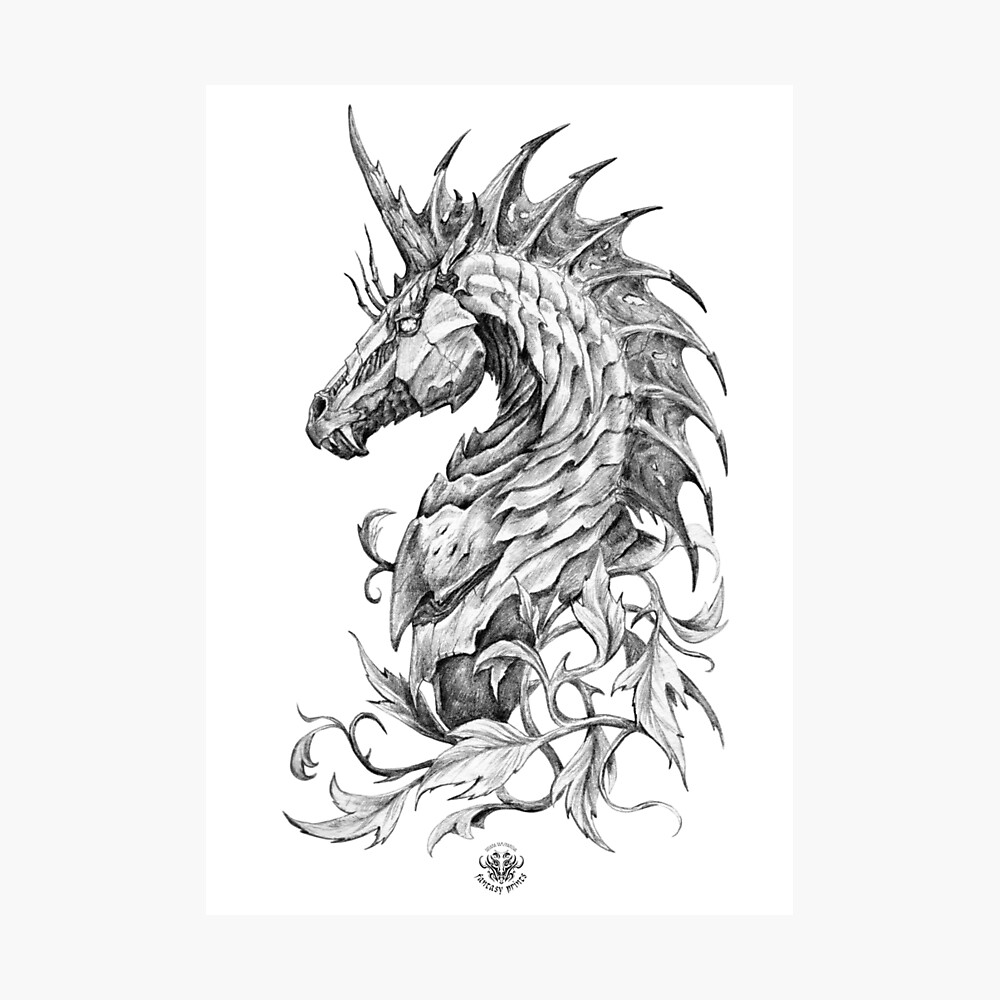 Dragons Fantasy Very Cool!! Unicorns Vintage Stickers Drawing Board