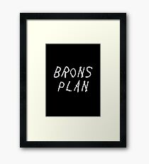 Brons Plan Framed Print