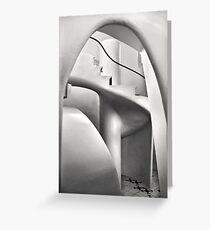 Staircase in Casa Batllo Greeting Card