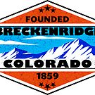 Ski Breckenridge Colorado Skiing Mountains Snowboard by MyHandmadeSigns