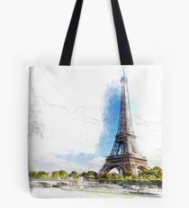 Eiffel Tower Paris France Tote Bag
