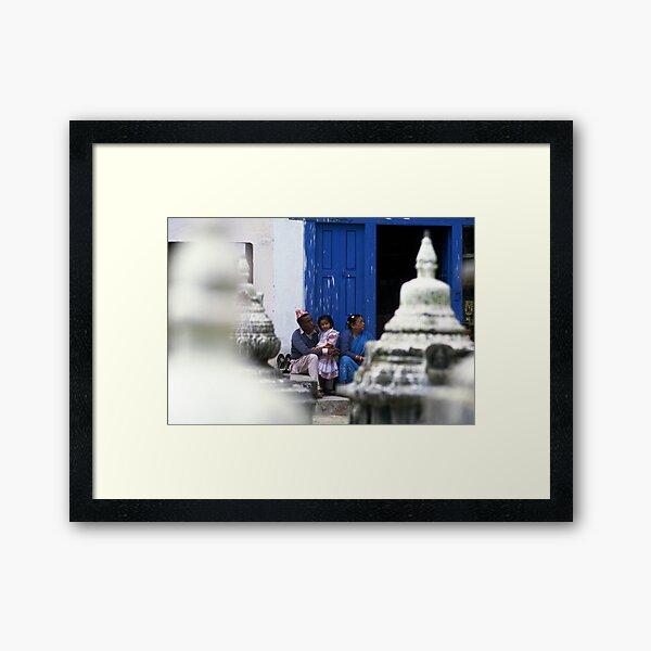 Family life Framed Art Print